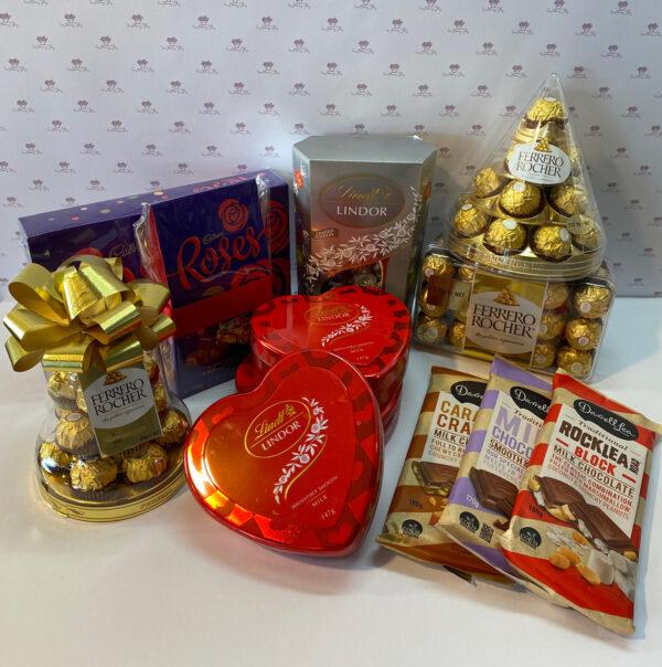 Delicious chocolate varieties