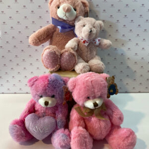 The softest, cuddliest bears in the sweetest of pinks.